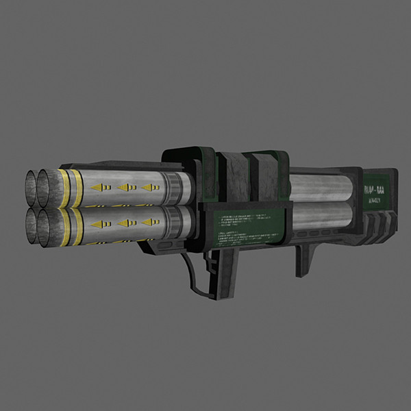 3dsmax rocket launcher quad - Quad Rocket Launcher Bazooka... by Mister A