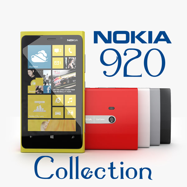 new flagship phone Nokia Lumia 920 Yellow, Red, White, Black and Gray Collection