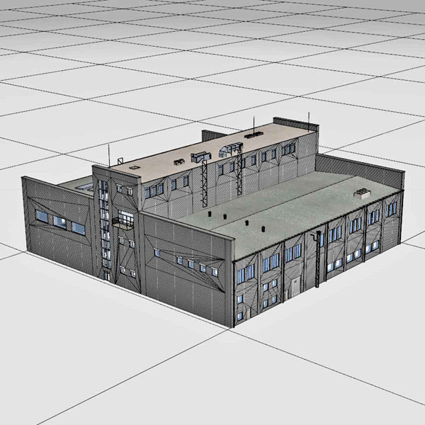 3d industrial buildings warehouses model - Industrial Buildings Collection... by 3D_Multimedia