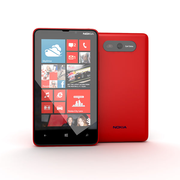 new nokia lumia red 3d model