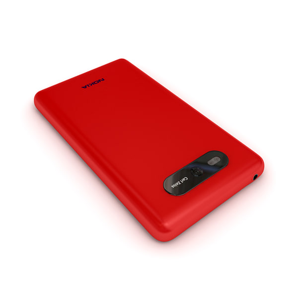 new nokia lumia red 3d model - new phone Nokia Lumia 820 Red Color... by Leeift