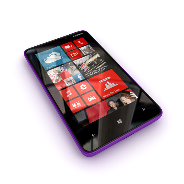 new nokia lumia 3d model - new phone collection Nokia Lumia 820... by Leeift
