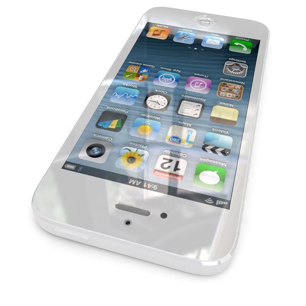 new apple iphone 5 3d model - Apple iPhone 5 White... by Leeift