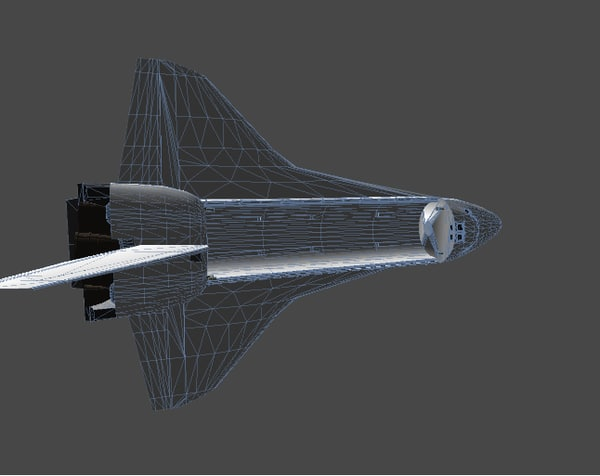 3d model hi resolution space shuttle