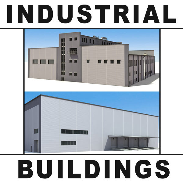 3d office buildings industrial warehouses