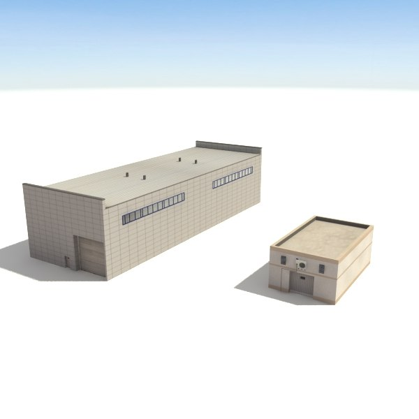 warehouses buildings 3 collections max - Warehouse 3 Collection Hangar... by 3D_Multimedia