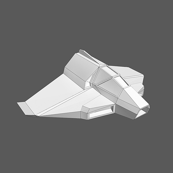 low-poly spaceship space max - Spaceship #AA2 Low-Poly Model... by Mister A