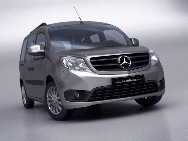 Mercedes Citan 2013 - Low Poly