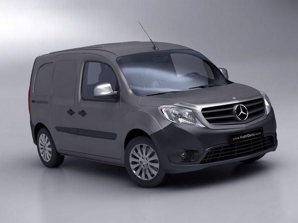 3d model mercedes citan van - Mercedes Citan Van 2013 - Low Poly... by kdeniz
