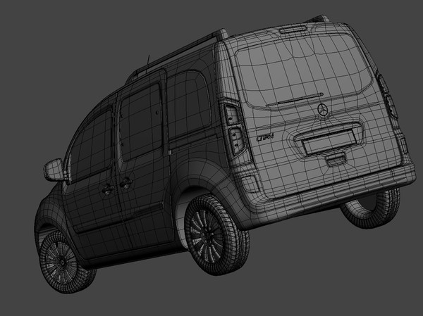 mercedes citan 3d model - Mercedes Citan 2013... by kdeniz