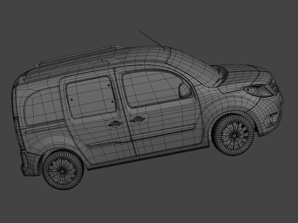 3d mercedes citan - Mercedes Citan 2013 - Low Poly... by kdeniz