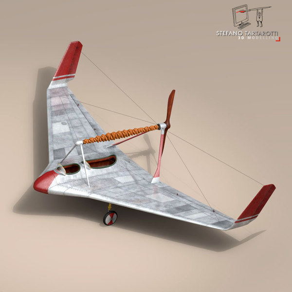 3d rubber airplan