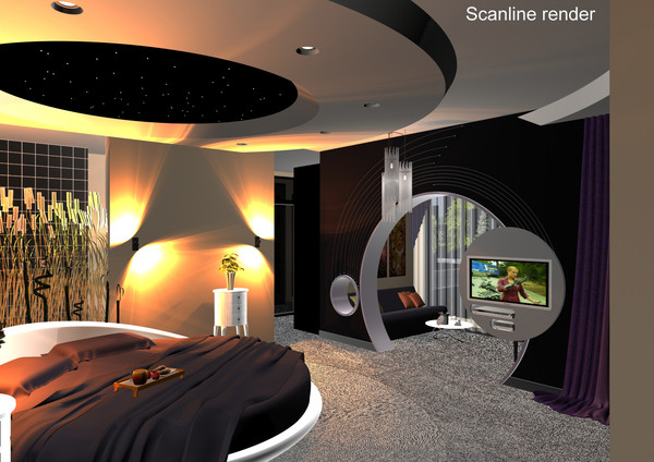 3d model modern bedroom design bed - Modern Bedroom... by solarseas
