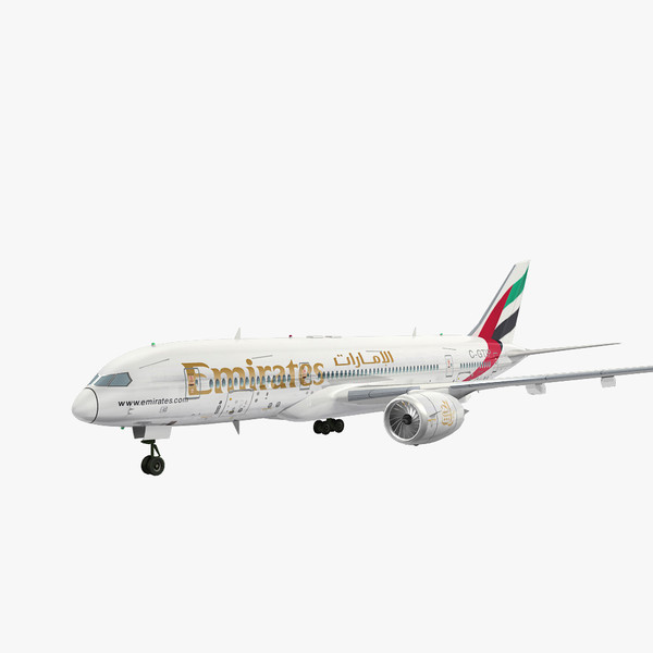 3d model fly emirates airliner