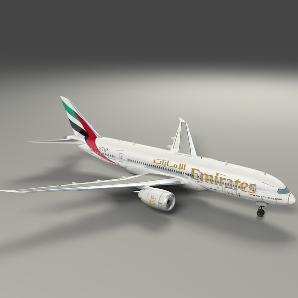 3d model fly emirates airliner - Emirates... by hahm12