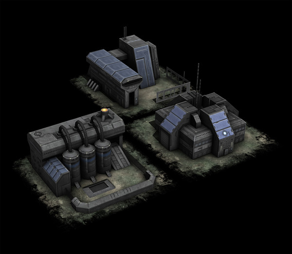 3d military building model - RTS building pack... by JonLundy3D