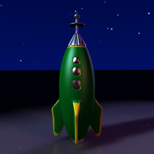 free 3ds mode spaceship rocketship - Toy Rocketship B... by MP Design