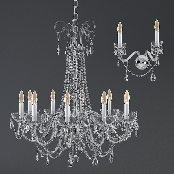 italamp collezione 262 3d model - Italamp collezione 262 263 classic chandelier and wall lam... by shop3ds