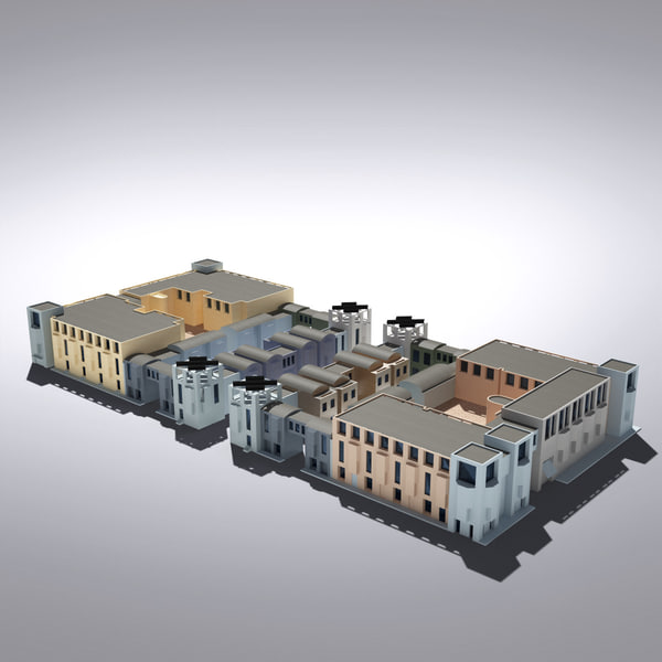 maya modern generic building architectural