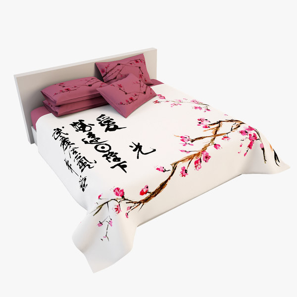 3d model of bedcloth 22