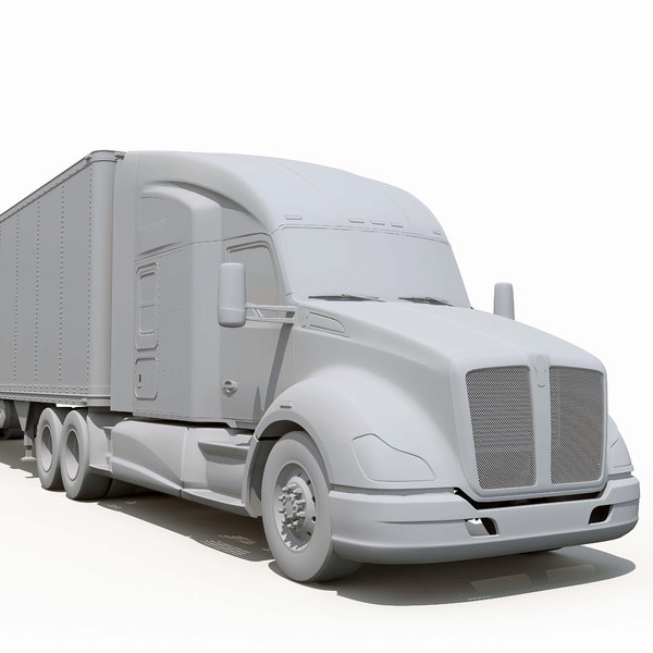 3d model t680 semi truck - Kenworth T680... by Alexart247