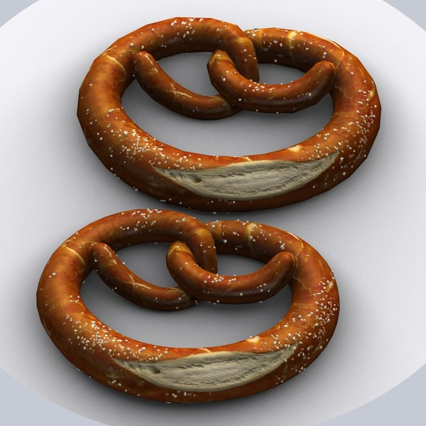 3ds max bretzel bread