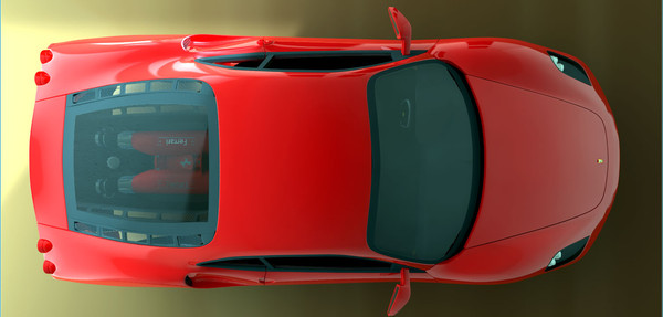 f430 car c4d - Ferrari F430... by jackc4d