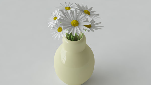3d daisy flower model