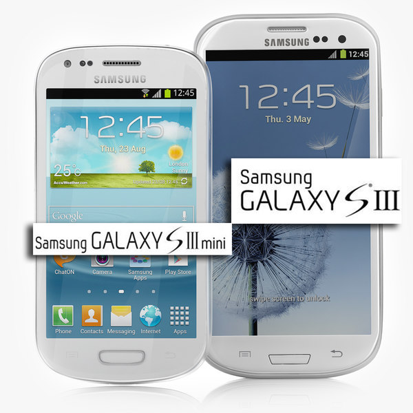 Samsung Galaxy S3 (white and Blue) + Samsung Galaxy S3 mini