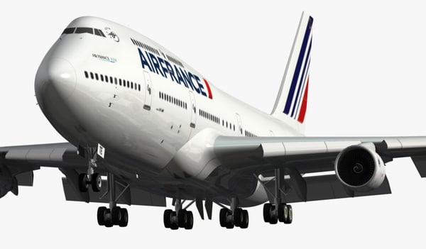 obj boeing 747-400 air france - BOEING 747-400 AIR FRANCE... by EGPJET3D