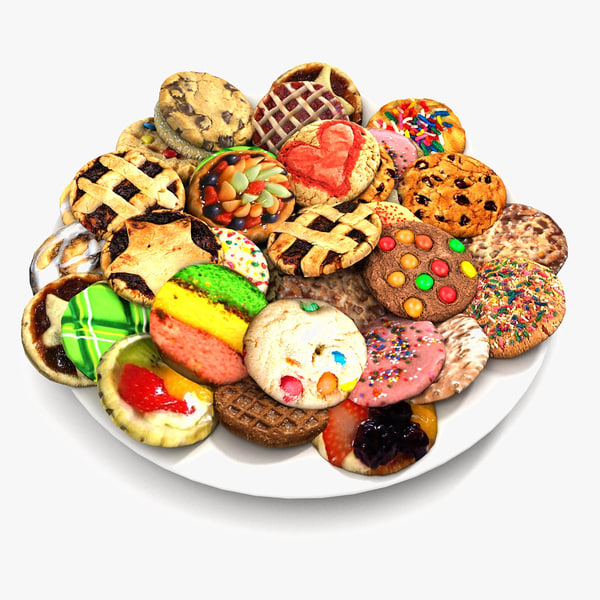 Bake Holiday Cookies Sweet Mince On Plate Collection