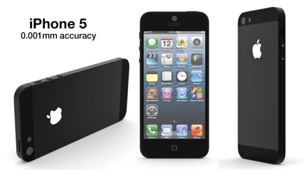 3ds max apple iphone 5 - Apple iPhone 5... by jbrewlet