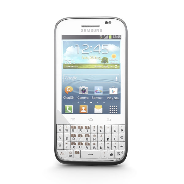 3d model samsung galaxy chat b5330 - Samsung Galaxy Chat B5330 Android Smartphone White... by Leeift