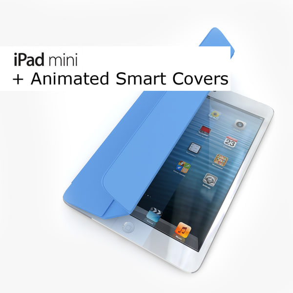 Apple iPad Mini Black and White with smart covers animated