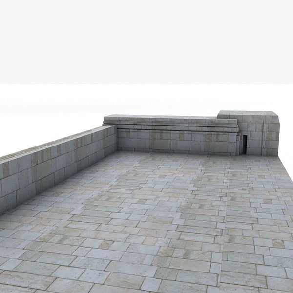 3ds centered - Stone Big Square Speech Balcony Classic... by Litarvan