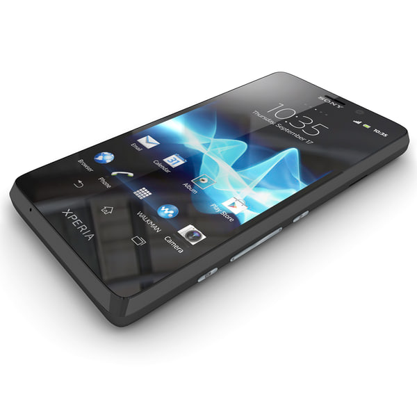 3ds max sony xperia t smartphone - Sony Xperia T Smartphone Black and White... by Leeift