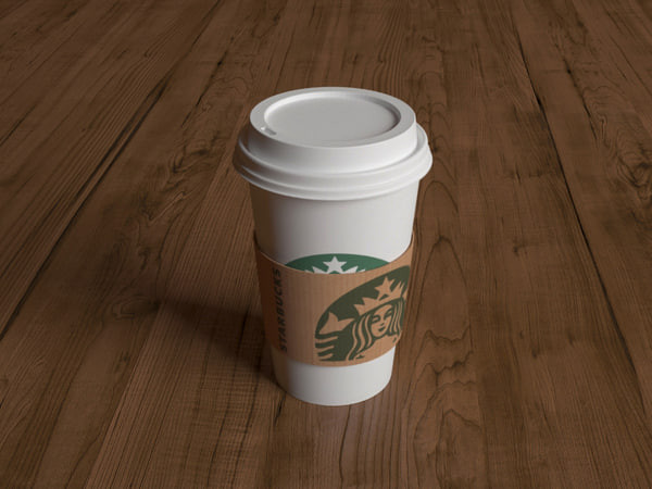 3d max starbucks coffee cup