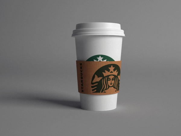3ds starbucks paper cup