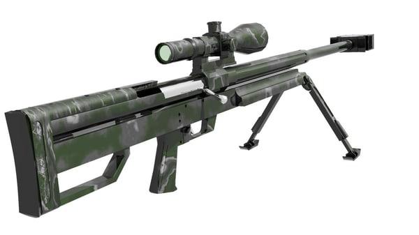 gun hs-50 3d obj