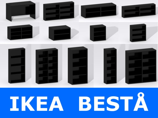 ikea furniture 3ds - IKEA BESTA... by CSModels