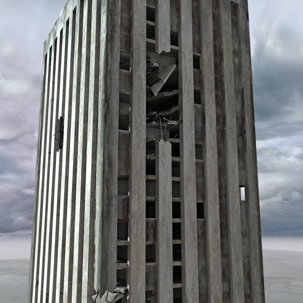 3d model ruined building destroyed - Ruined Building Destroyed... by 3D_Multimedia