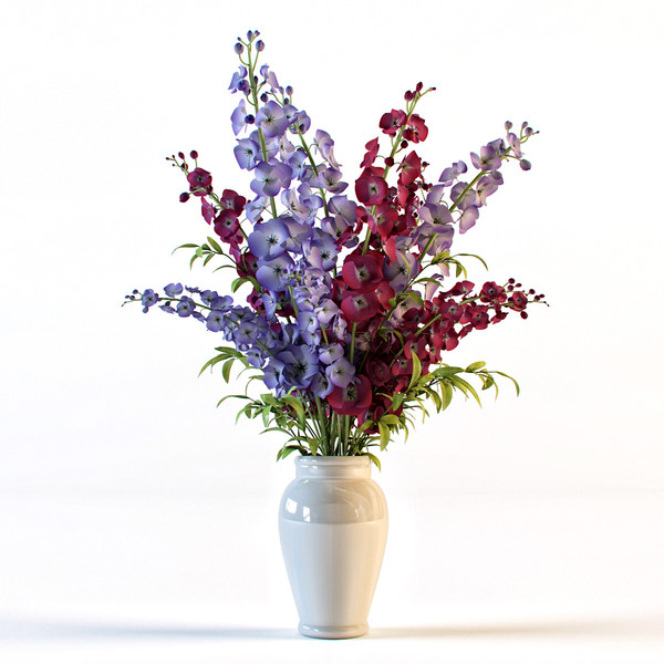 delphinium flowers vase max - Delphinium flowers in vase... by renekorda