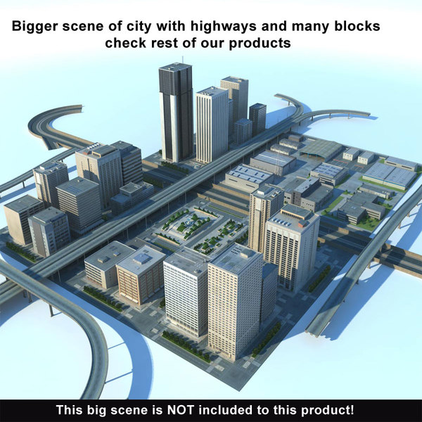max city big cityscape buildings - City Big Cityscape... by 3D_Multimedia