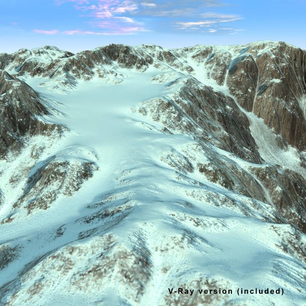 snowy mountain snow rock landscape max - Mountain Terrain Landscape Snowy... by 3D_Multimedia