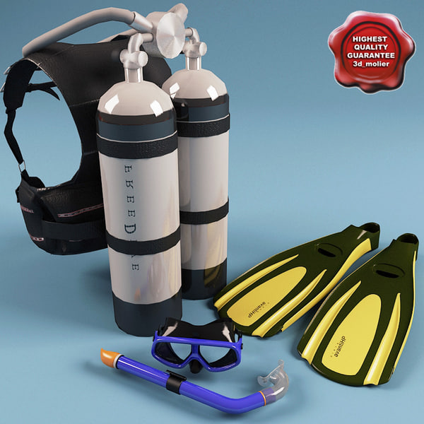 max diving set scuba - Diving Collection... by 3d_molier