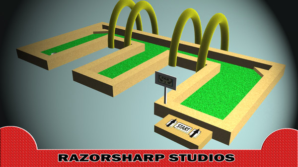 mini golf hole e 3d ma - Mini Golf Alphabet E Hole... by razorsharpgames