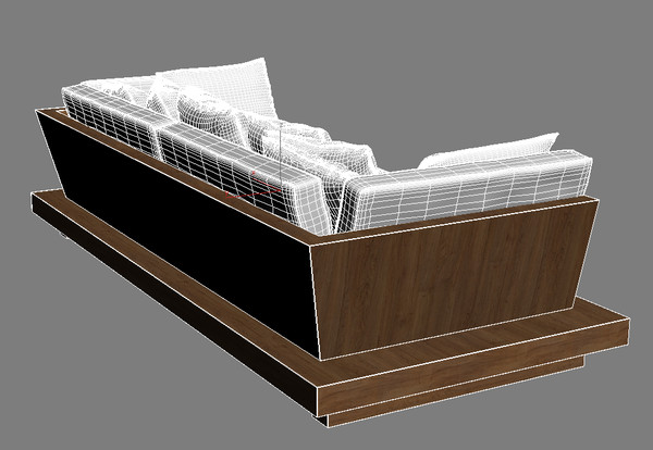 bonetti kozerski - lounge 3d model - Bonetti kozerski - Lounge sofa... by renekorda