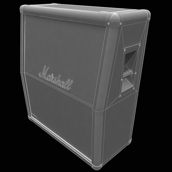 3d model marshall jvm 210h amplifier - Guitar Amplifier Marshall JVM 210H Set... by 3d_molier