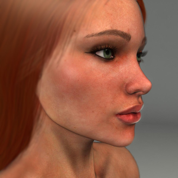 3d realistical woman karina