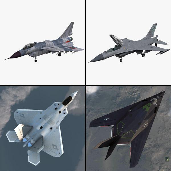 3d model jet fighter 2